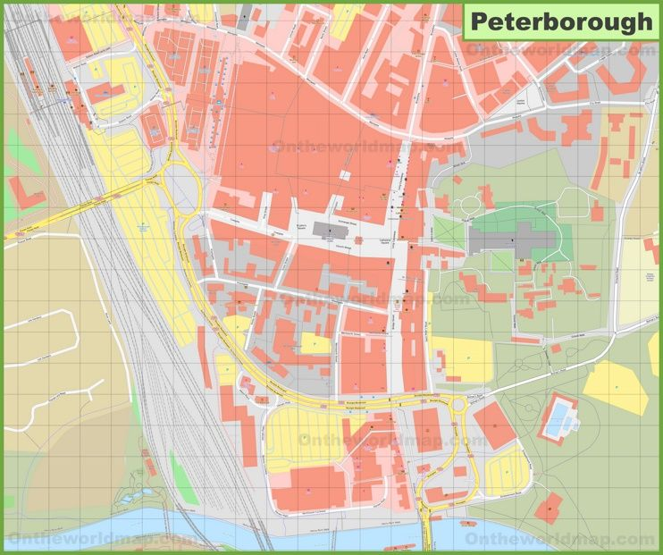 Peterborough city center map | Maps | Pinterest | Peterborough and City
