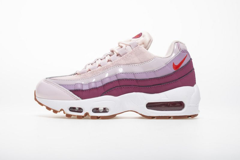 a53e774b93b2 粉红 耐克95气垫WMNS Nike Air Max 95 Barley Rose Hot Punch 307960-603 ...