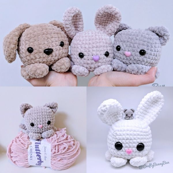 Cube Kitty Cat Amigurumi Pattern