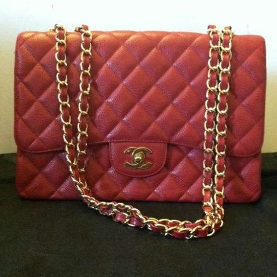 Vintage Chanel red handbag found at