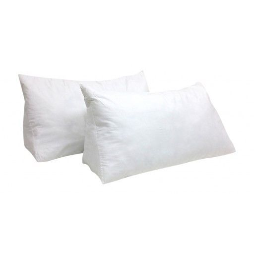 Set Of 2 Huge Wedge Pillows For Bed Couch Floor 100 Cotton Shell Very Large Wedge Pillow Bed Pillows Pillows