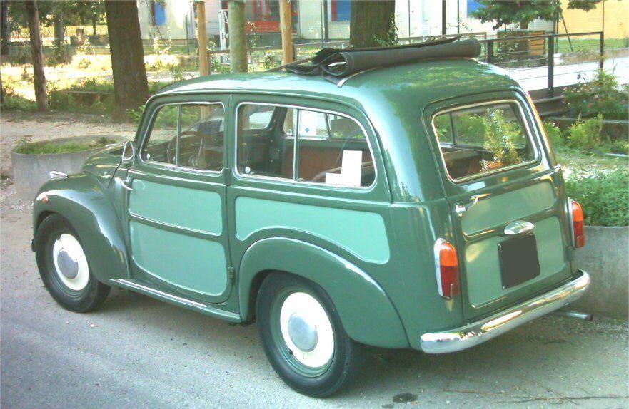 Fiat 500 Giardiniera Belvedere Del 1955 Fiat 500 Fiat Fiat 500 Pop