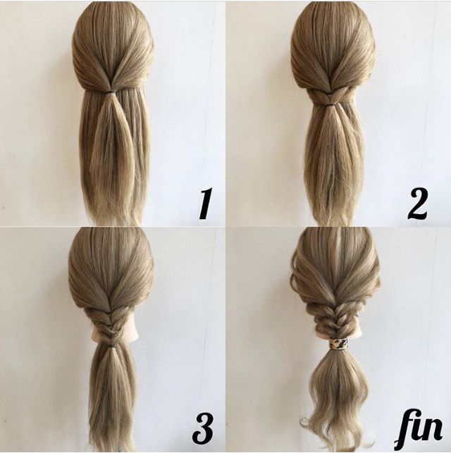 Pin By Magdalena Stocka On Hair Thick Hair Styles Work Hairstyles Hair Tutorial