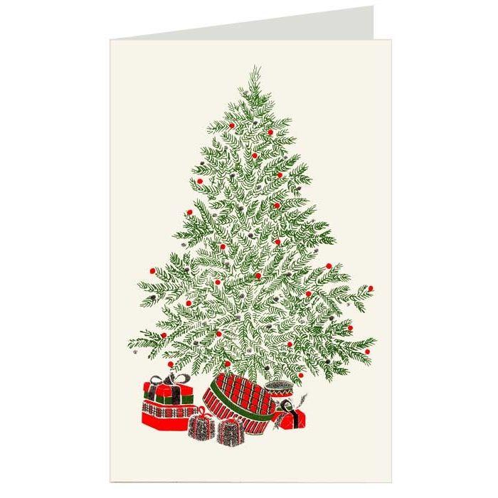 Festive Green Tree Italian Christmas Card ~ Rossi Italy | Vintage ...
