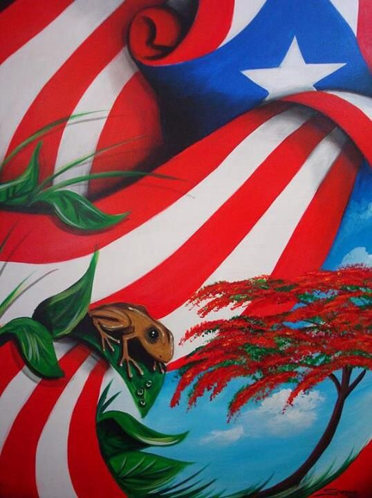 Puerto rican flag tree frog puerto rico pinterest for Puerto rican