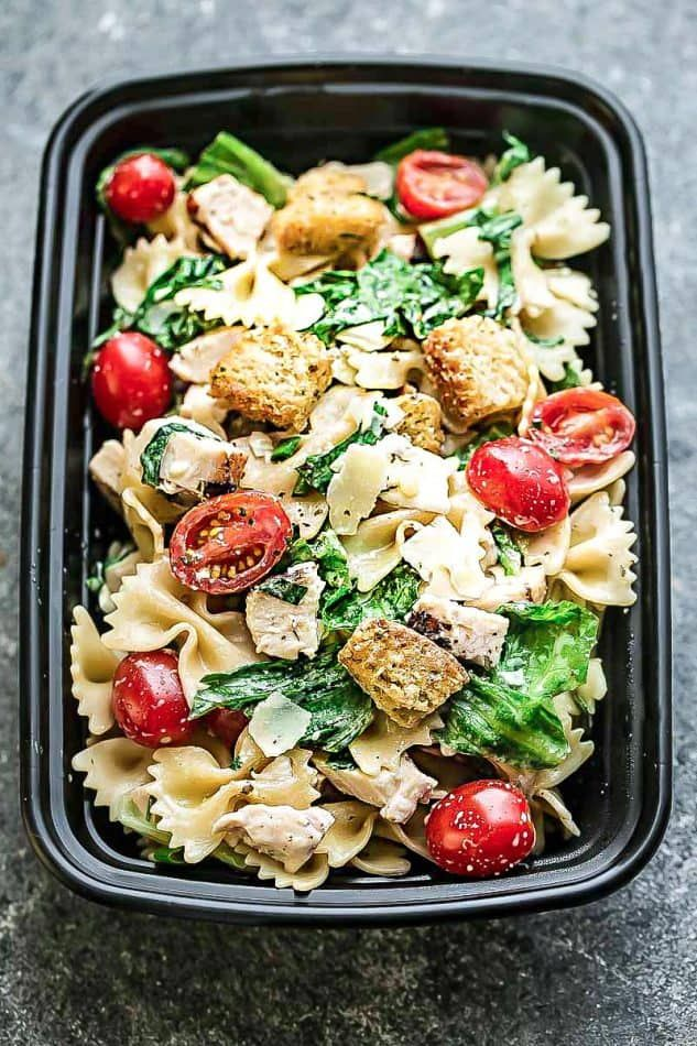 Chicken Caesar Pasta Salad - the best for summer parties!