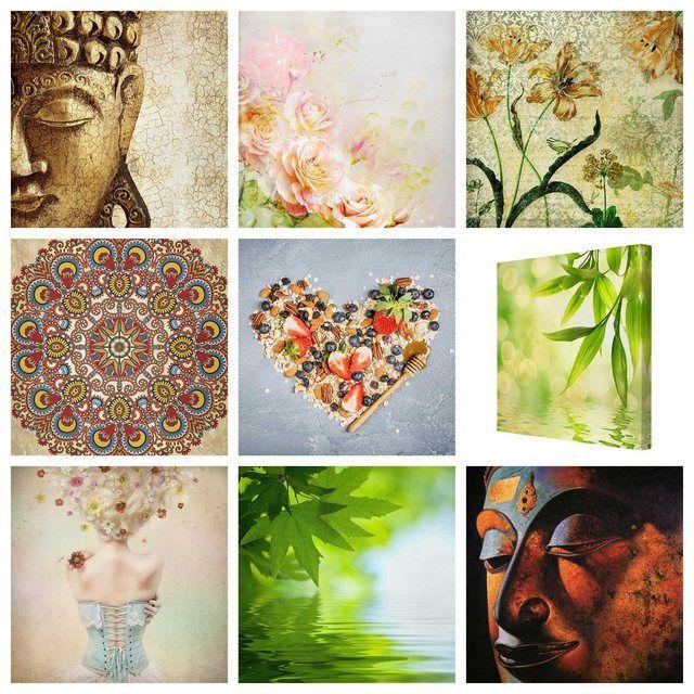 Bilderwelten Leinwandbild Quadrat 1:1 »Top Entspannungs Leinwandbilder« online kaufen   OTTO