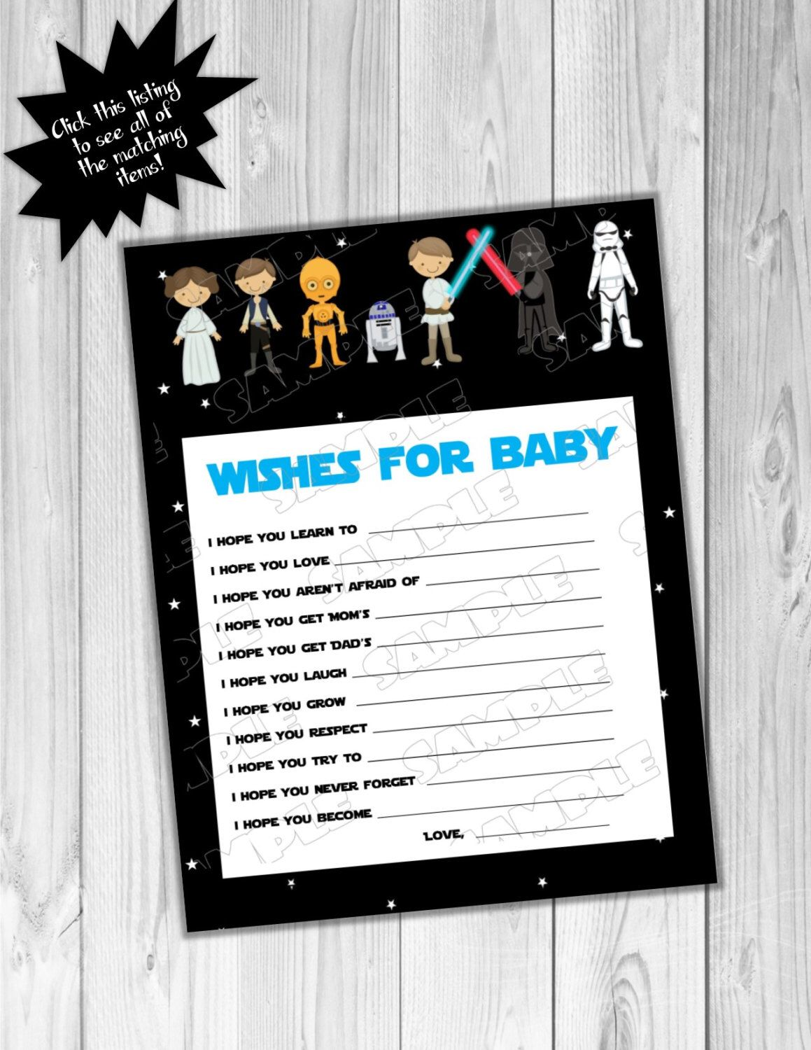 Star Wars Baby Shower Games Starwars Wishes For Baby Game
