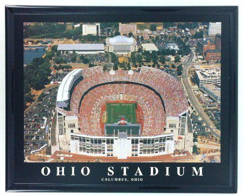 Framed Football Columbus Ohio Aerial Stadium Print Wall Art Blowout Barn Http Www Amazon Com Dp B00asgpy Ohio Stadium Ohio State Football Ohio State Buckeyes