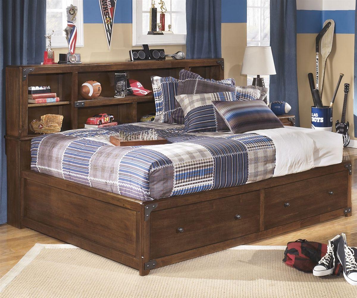 Delburne Bookcase Studio Bed Full Size Bookcase bed