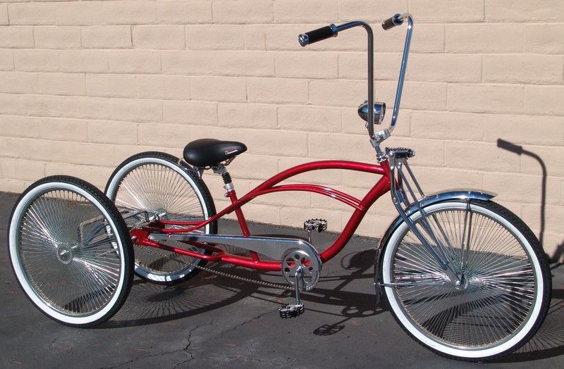 Adult Lowrider Tricycle for Men /& Women 3-Wheeled Beach Cruiser Pedal Bicycle