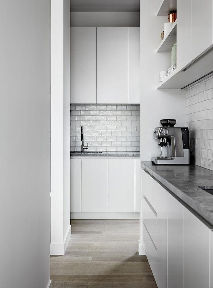 Kitchen Tiles Handmade butler's pantry / small kitchen: white handmade subway tile
