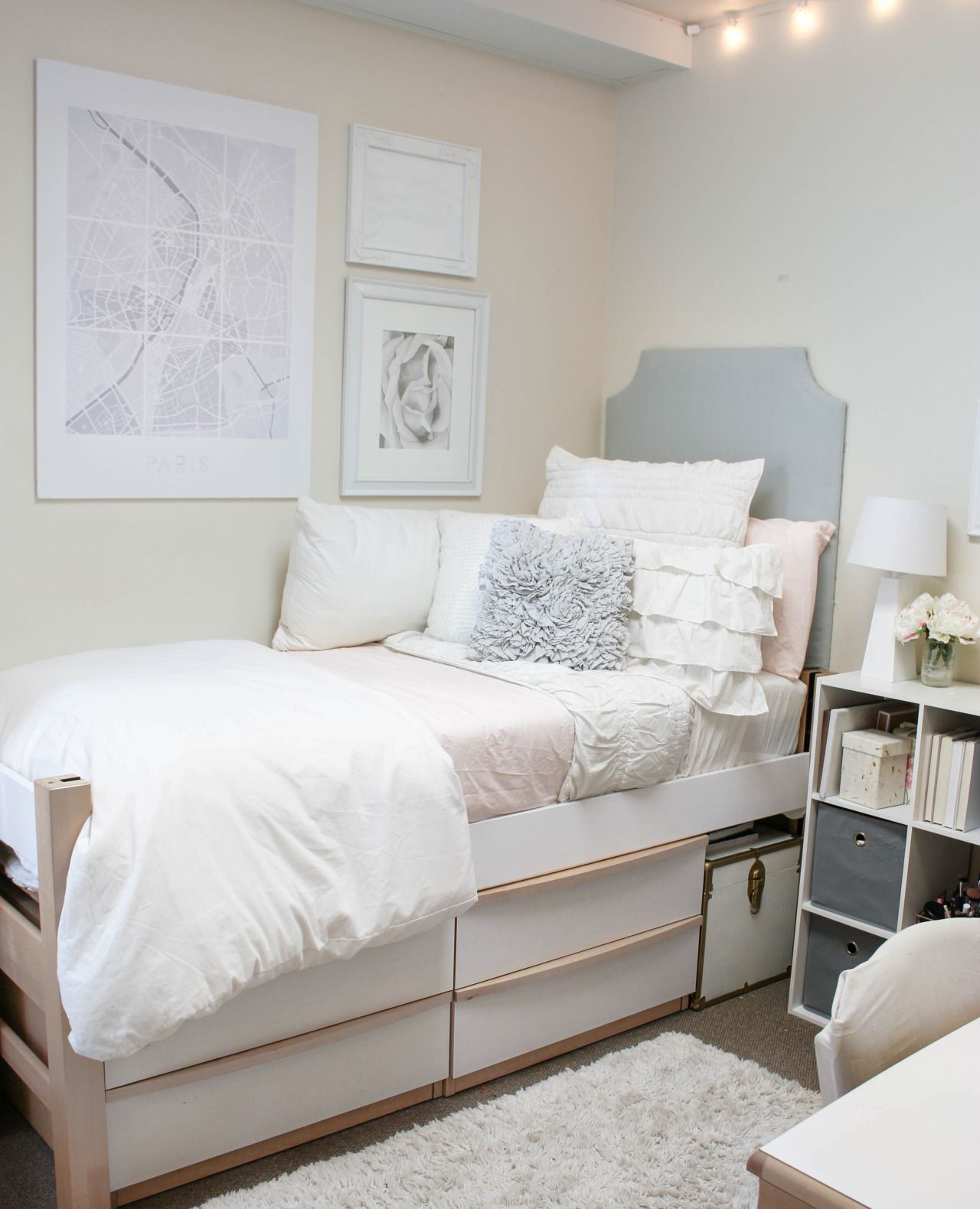 Dorm room essentials dorm decor in 2019 cool dorm - Dorm room bedding ideas ...