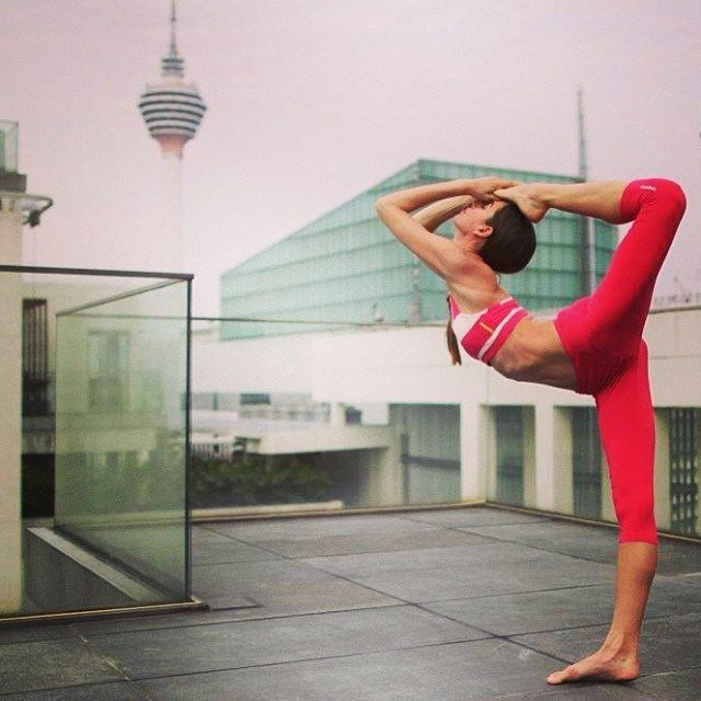 rooftop is the new place to do #yoga