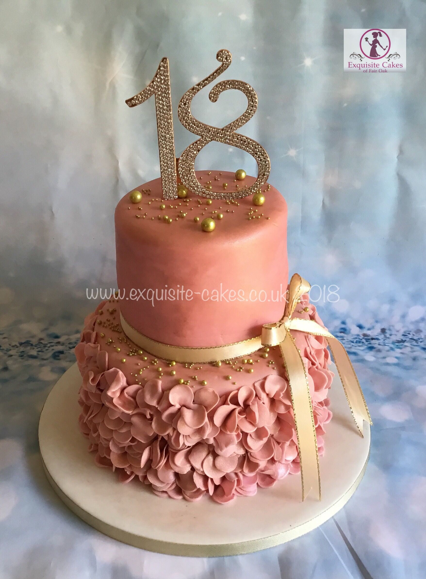 Rose Gold 18th Birthday Cake With Images 18th Birthday Cake