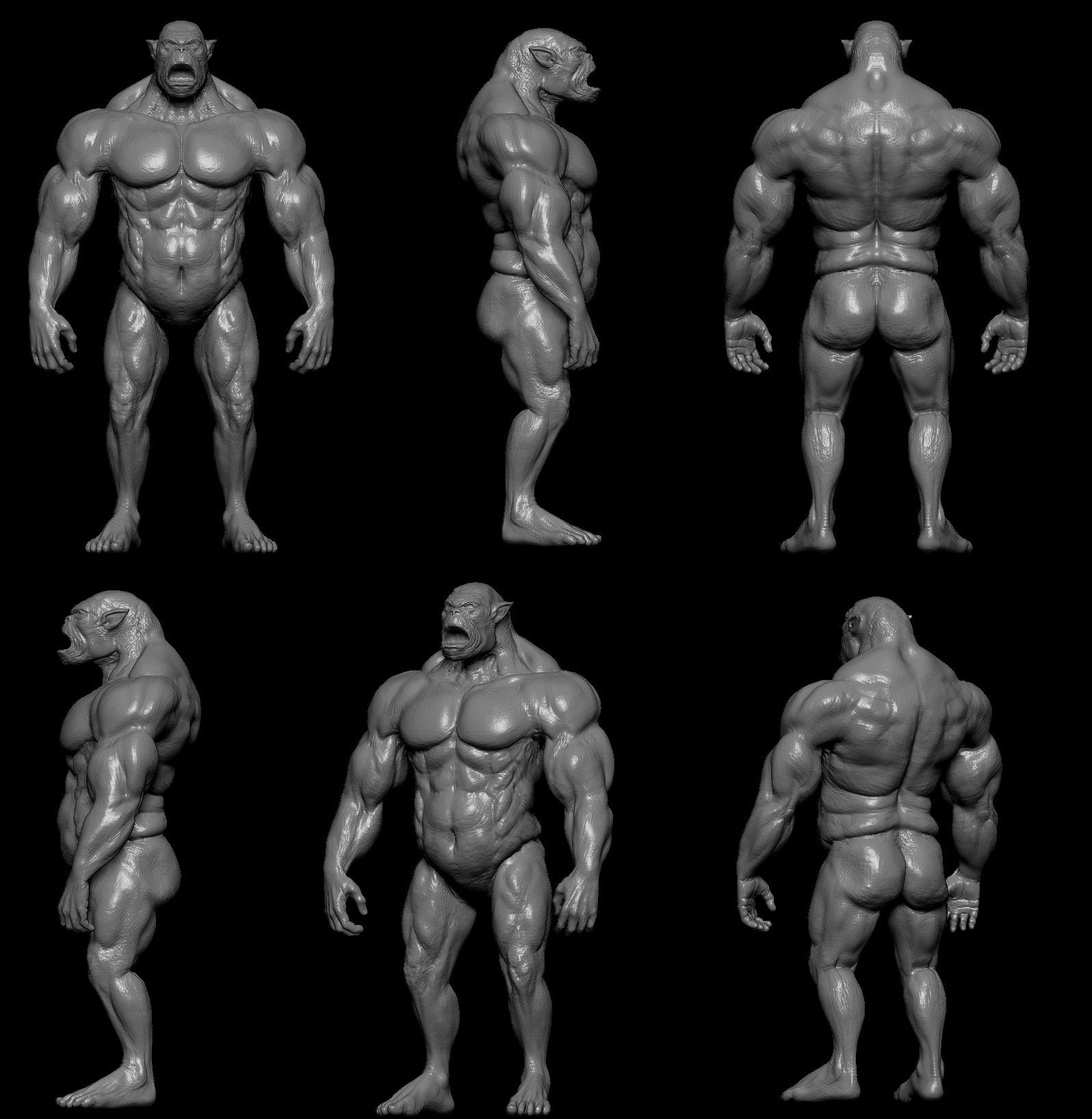 silverback gorilla muscles - Google 搜尋 | 3D/Sculpture reference ...