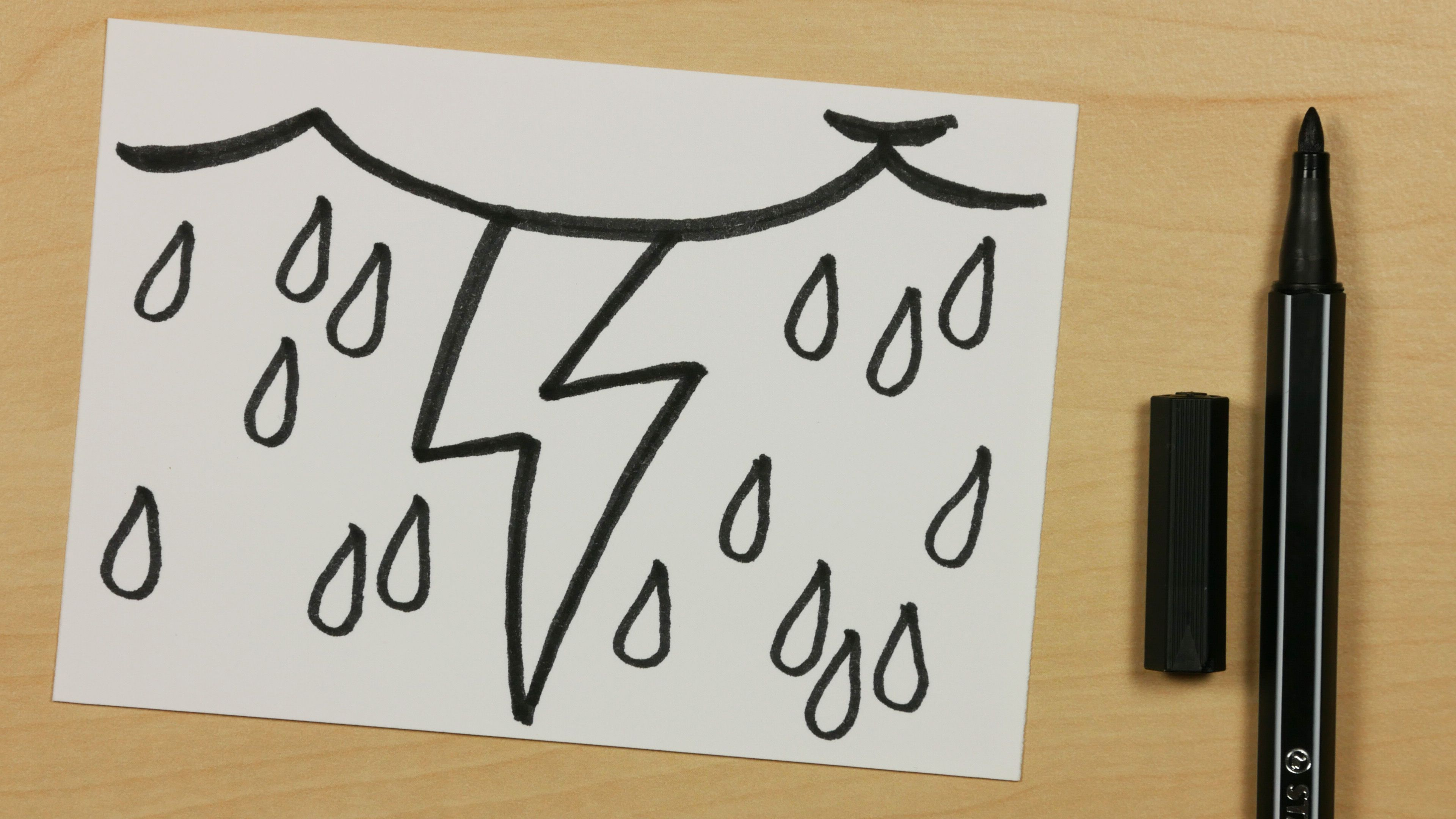 How to Draw a Lightning Bolt with Thundercloud and Rain - Easy Cartoon Doodle for Kids [101] - https://youtu.be/aunlVA1LTpE - Subscribe: https://www.youtube.com/channel/UCzp_6nj33P39unKIBTNvXkQ?sub_confirmation=1