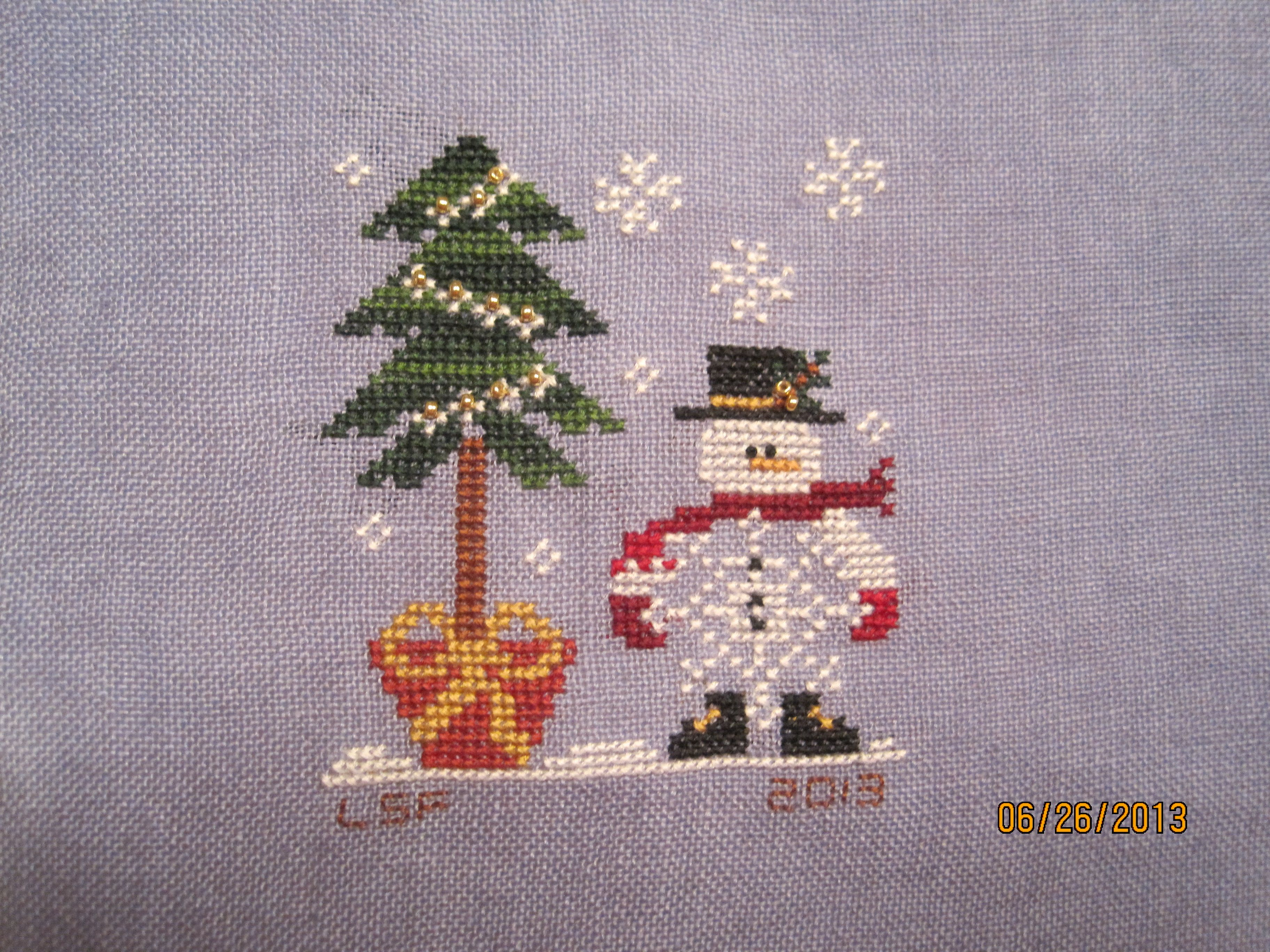 "2013 finish - LHN Ornament ""He's a Flake"""
