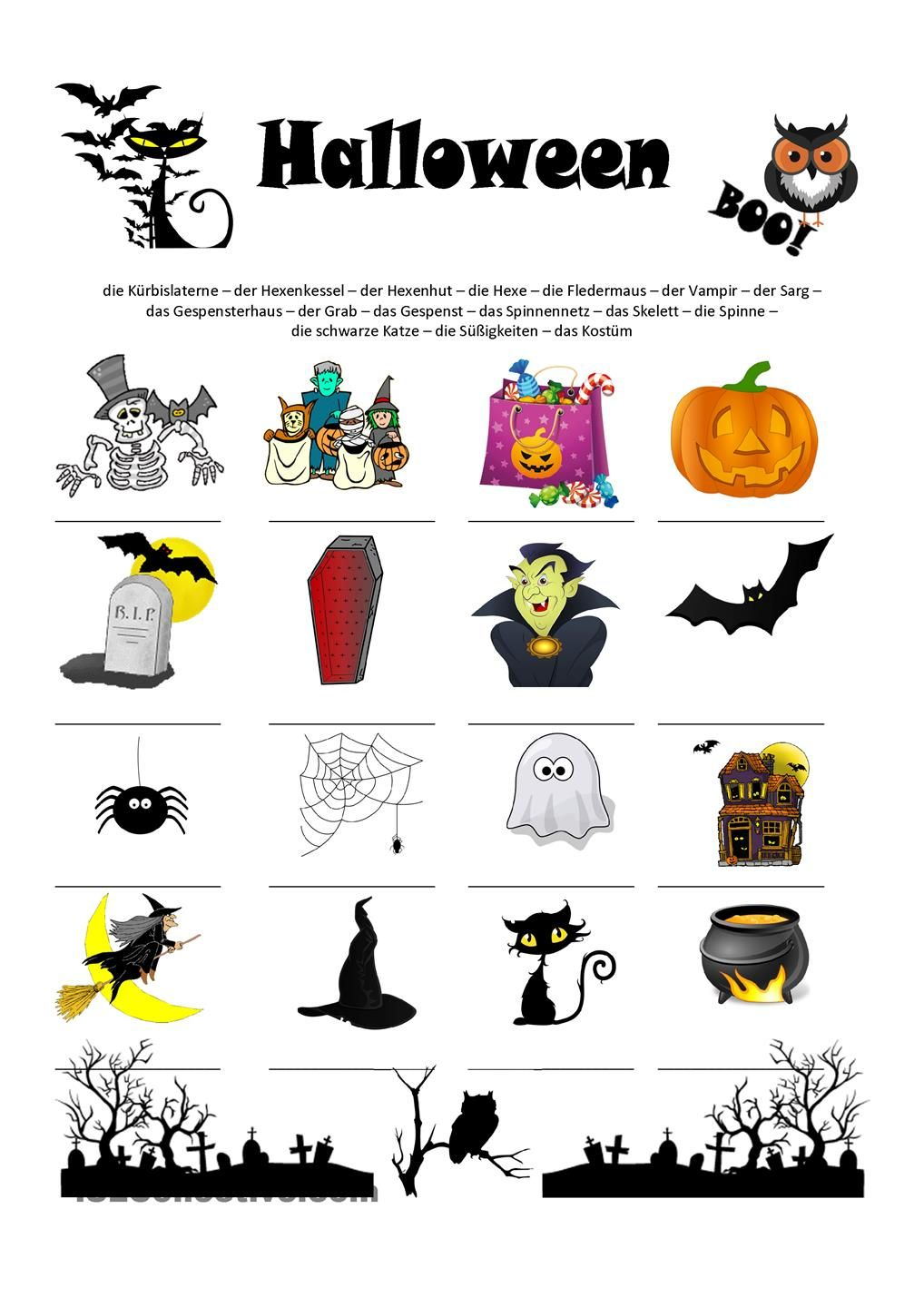 Halloween Wortschatz | German