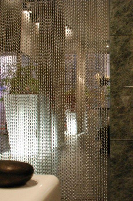 Custom made chain curtain perforated metal cortinas metalicas decoracion de muebles y - Cortinas metalicas decorativas ...