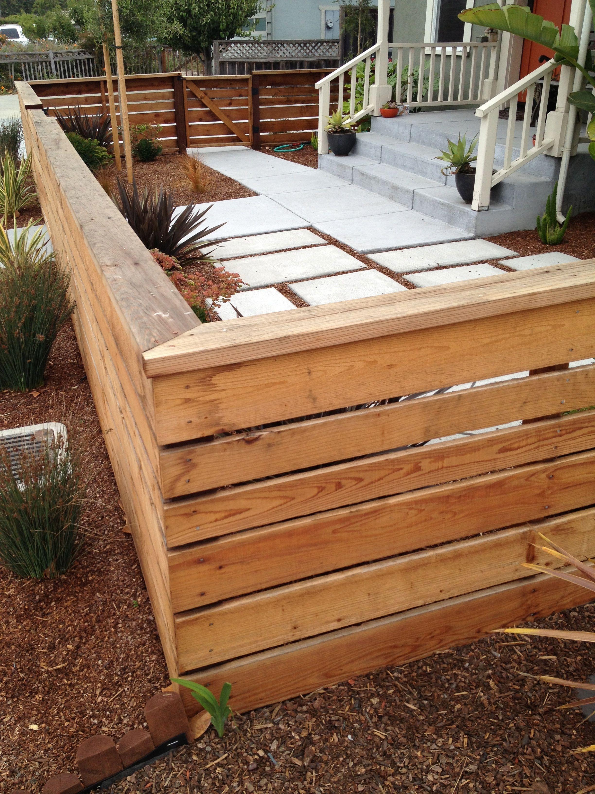 Small Front Yard In Santa Cruz Outdoor Space Patio Fence