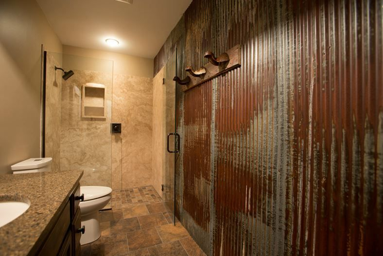 Appealing Corragated Tin Shower Wall Schedule A A Rugged