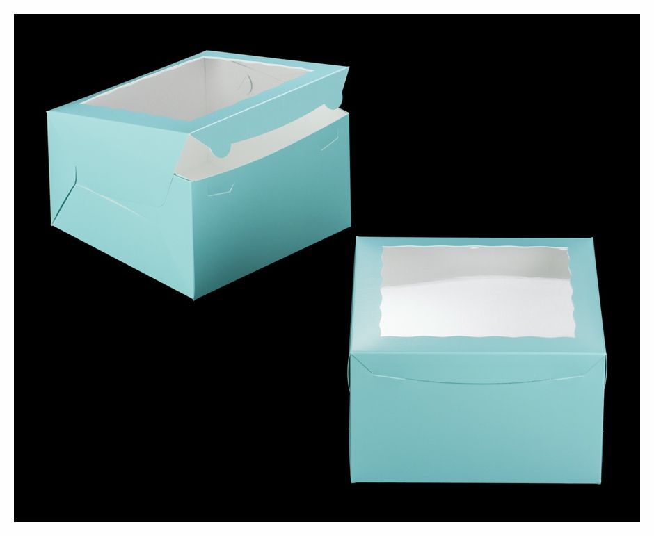 3468 10 X 10 X 6 Diamond Blue White With Window Lock Tab Box With Lid A33 Box With Lid Blue White Vintage Labels