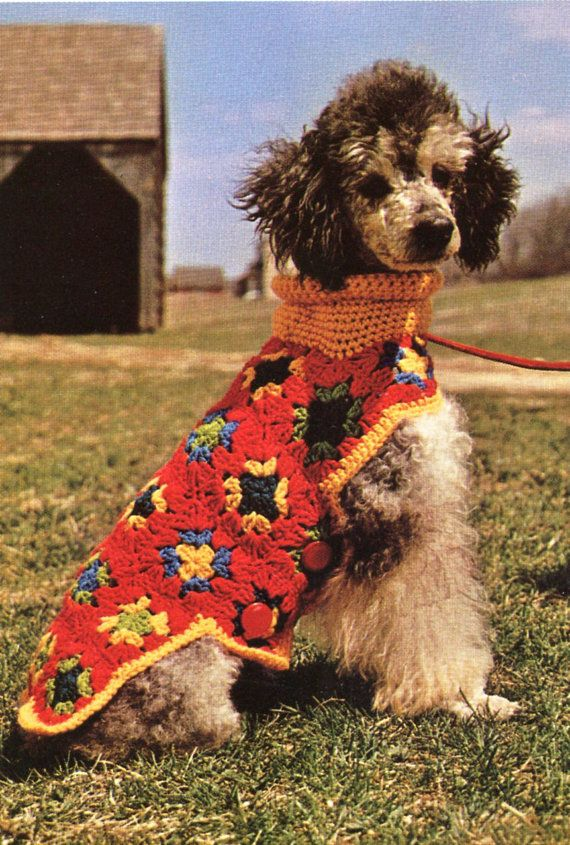 Putting-on-the-Dog, Granny Squares Dog Sweater - Crochet Pattern ...
