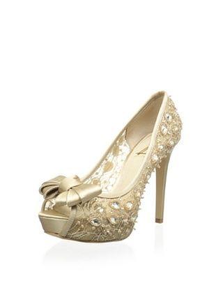 61% OFF Joan & David Collection Women's Cutie Dress Pump (Gold Fb)