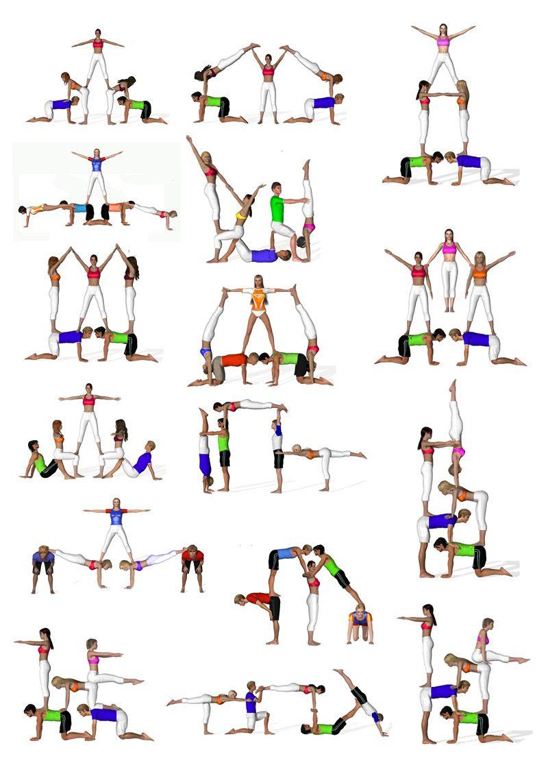 Quintetos Acro Gymnastics Gymnastics Poses Gymnastics Stunts