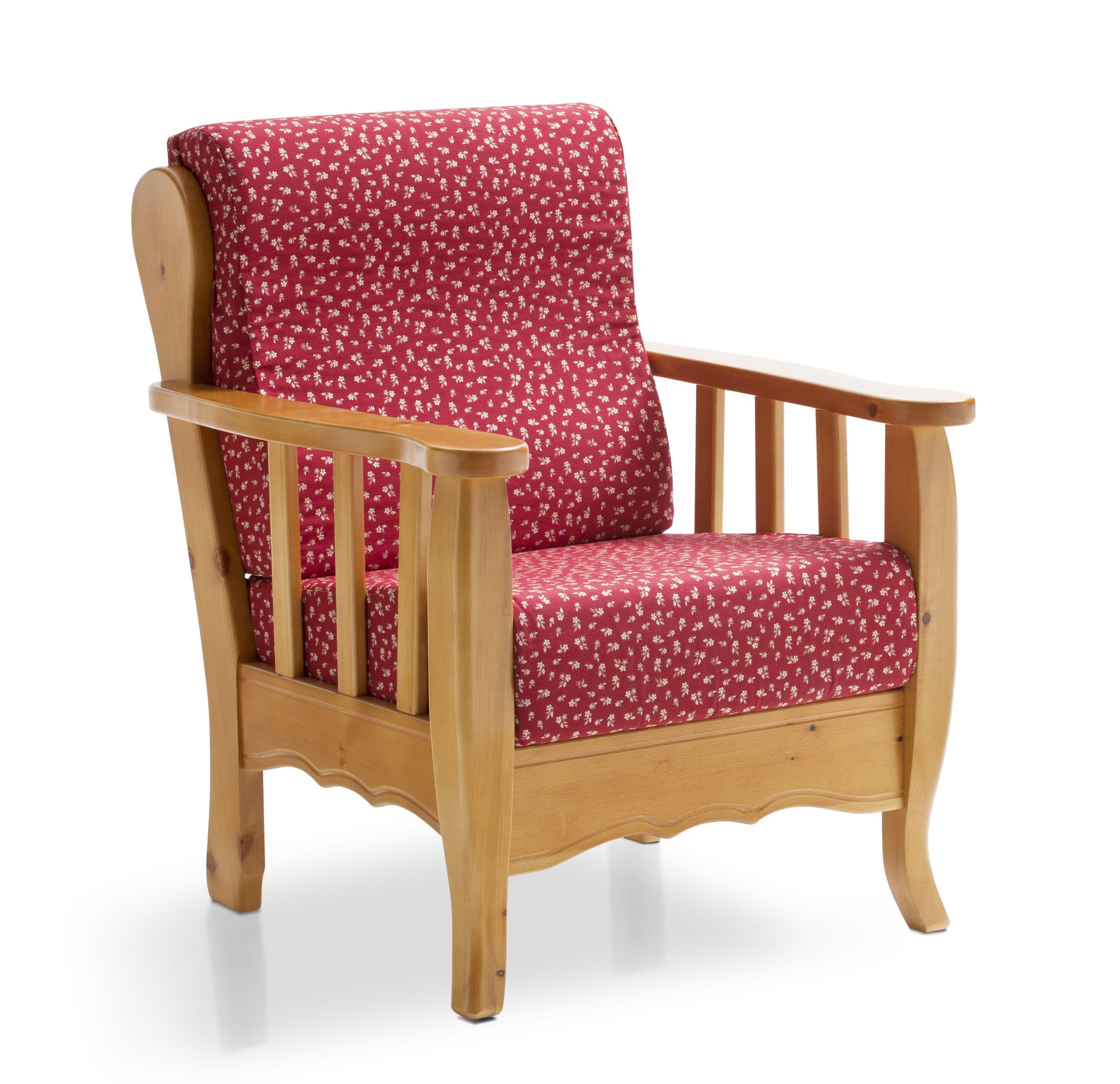Poltrona Modello ELISA - Fusto in PINO MASSELLO con CUSCINI SFODERABILI, ERGONOMICI e a DENSITA' DIFFERENTE per seduta e schienale. #sofa #moderncountry #pinewood #madeinitaly #furniture #mobilipino #legnomassello #country  www.demarmobili.it