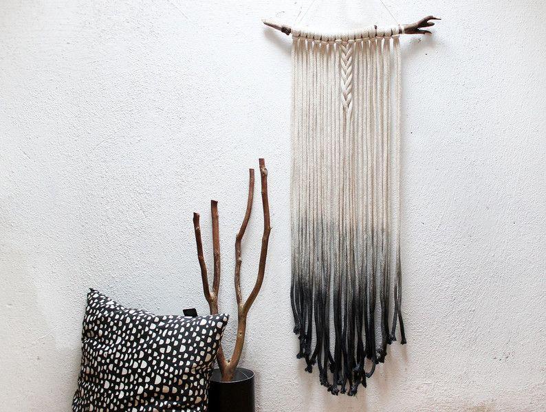 Wanddeko moderner makramee wandbehang bohemian dip dye ein designerst ck von halfbird bei - Wandbehang modern ...