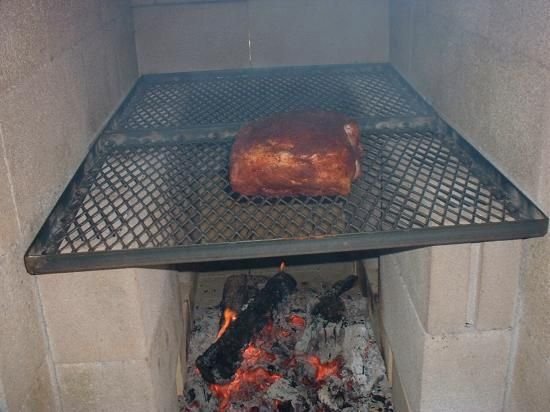 Outdoor Cooking Pits Burning The Wood In Another Pit And
