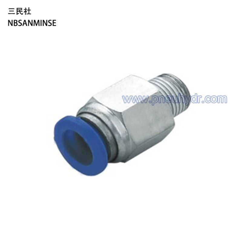 PC4-01 , Pneumatic Pipe Fitting , Pipe Connect ,Tube Connector