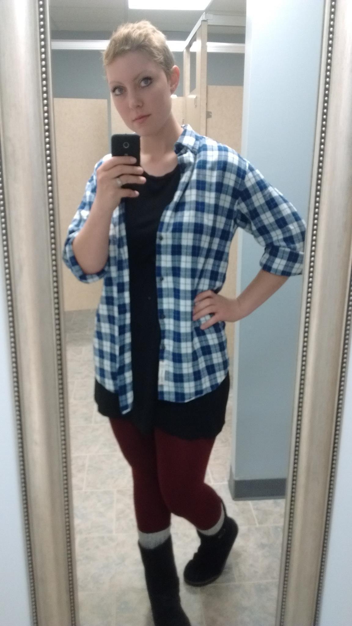 Flannel Shirt Leggings Boots Winter Style Short Hair Trendy Little Black Dress Leg Warmers Clothes Women S Plaid Shirt Flannel Shirt [ 2048 x 1152 Pixel ]