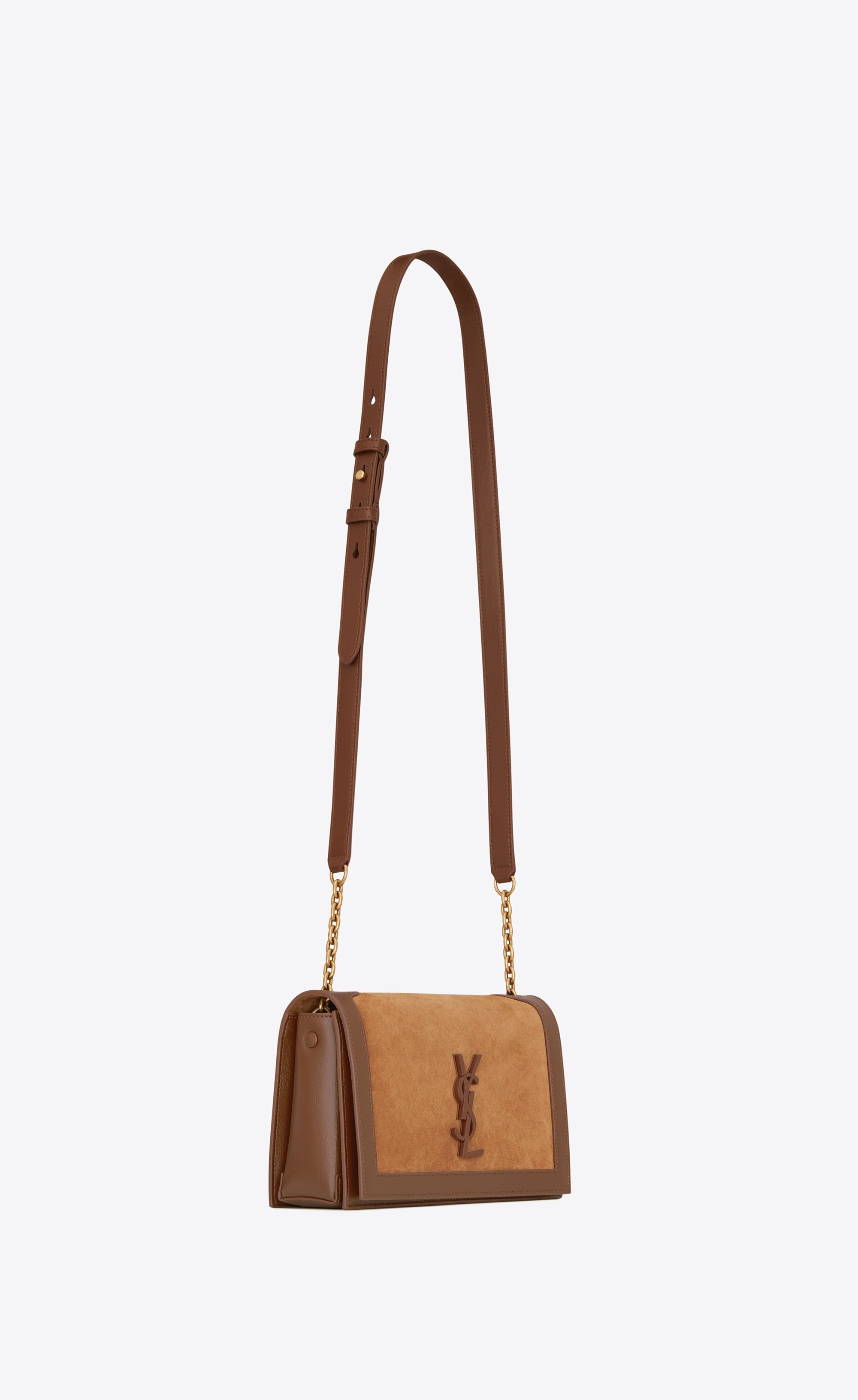 Saint Laurent - Book Bag in multi brown leather and suede ( 1 fd363bc6ff22c