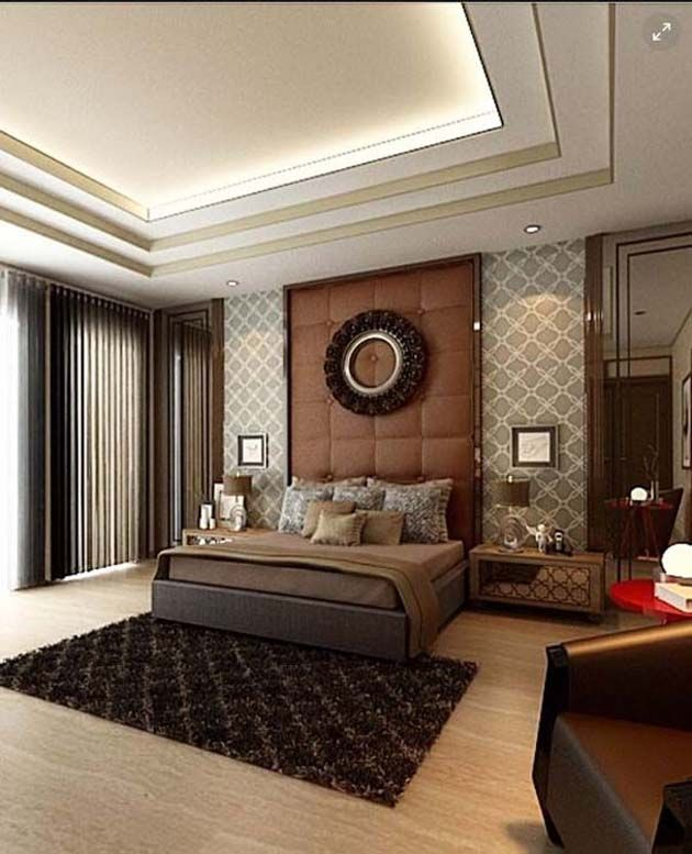 This Bedroom Is Designed Using Dark Colours Incredibly