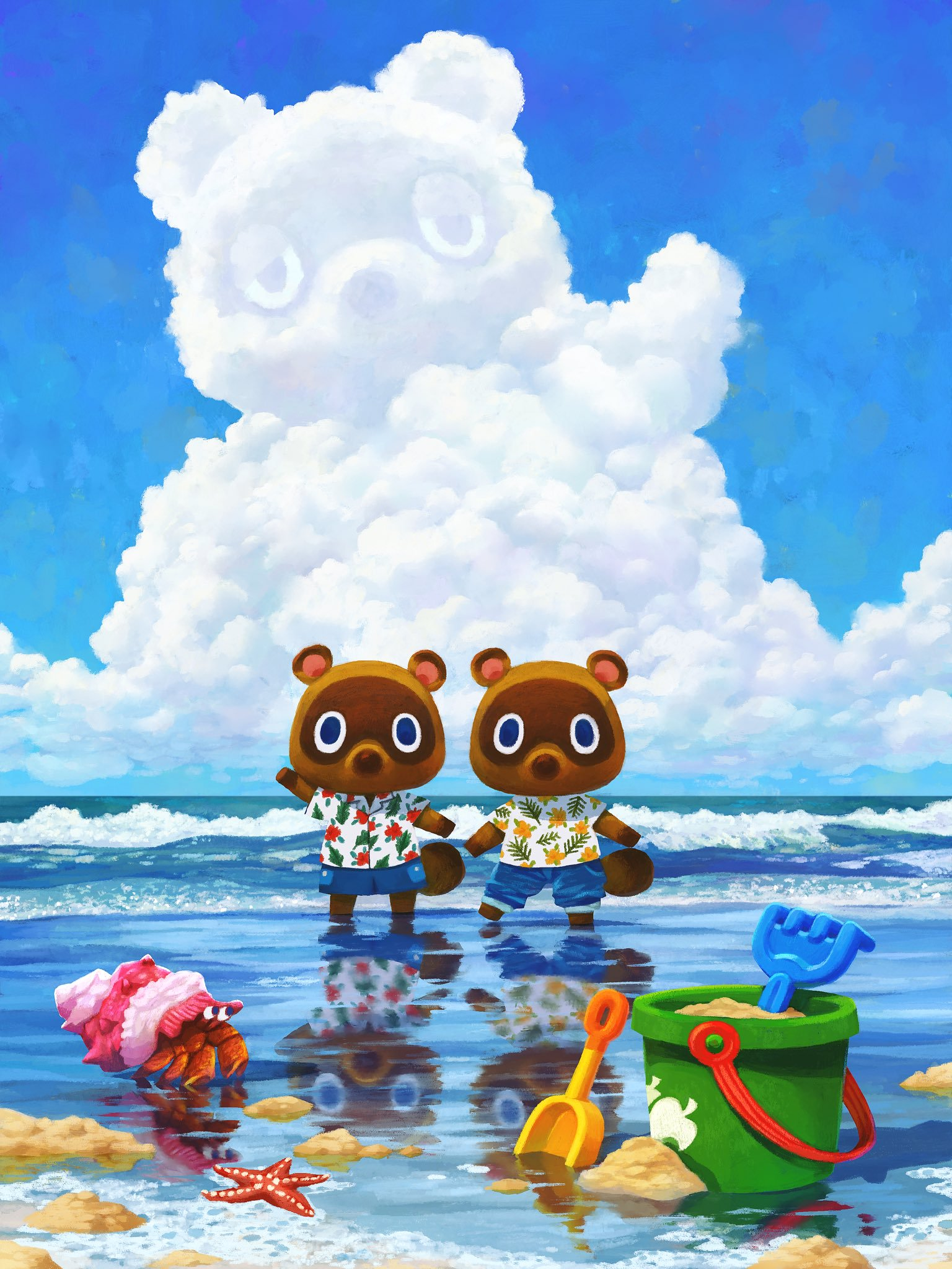 Timmy And Tommy On The Beach Animalcrossing Animal Crossing