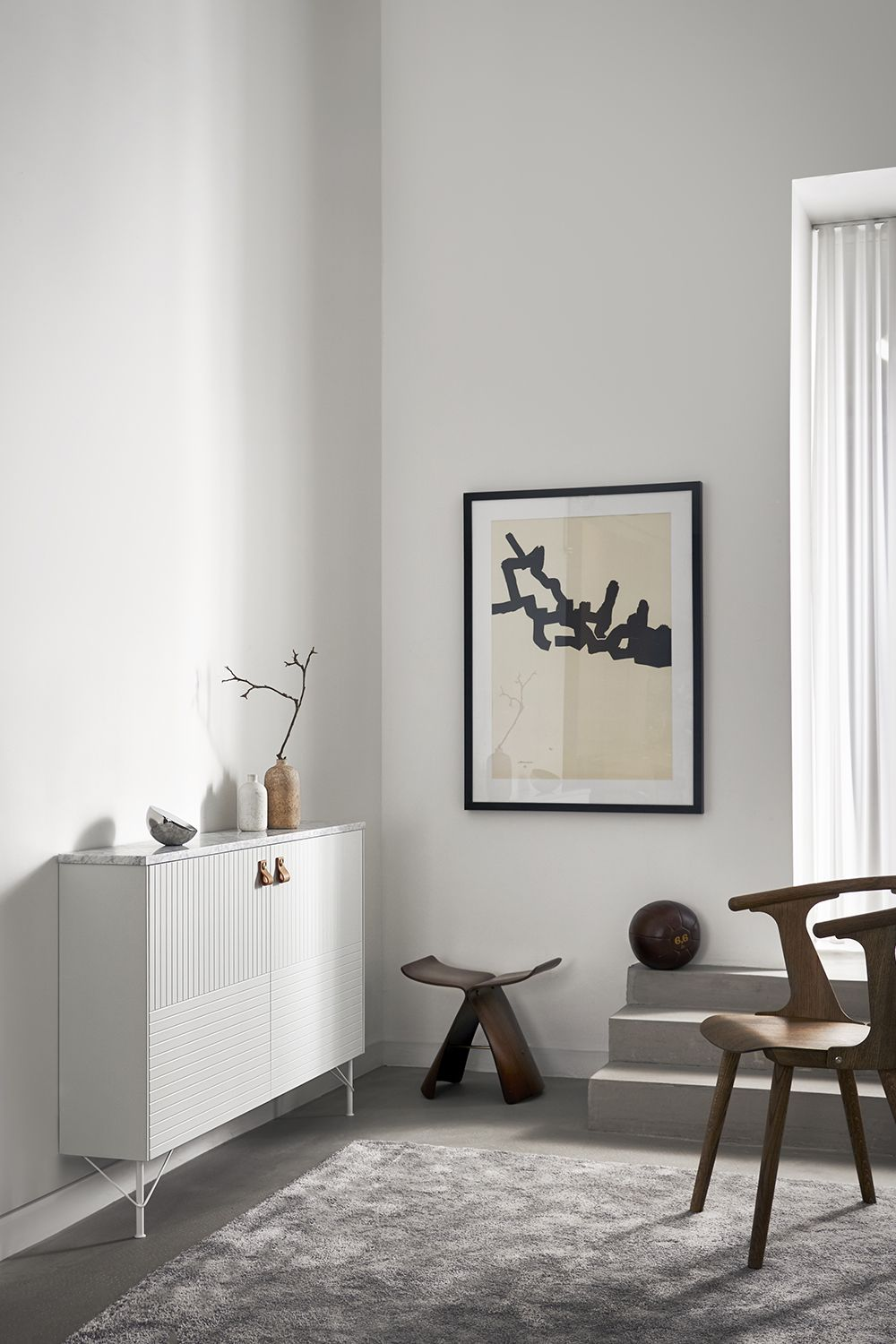 Shallow sideboard from Superfront, built on two Bestå