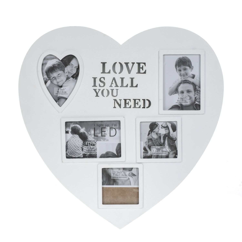 Heart Collage Frame With Led | The Range | LED | Pinterest