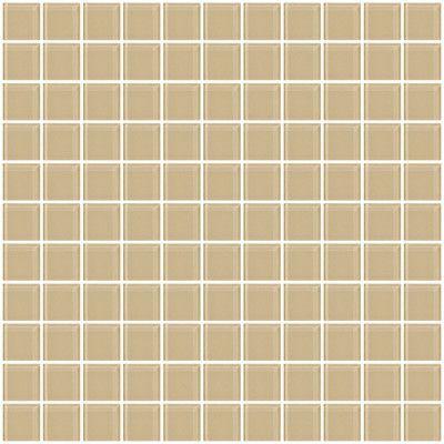 "SusanJablon 1"" x 1"" Glass Mosaic Tile in Wheat Brown"