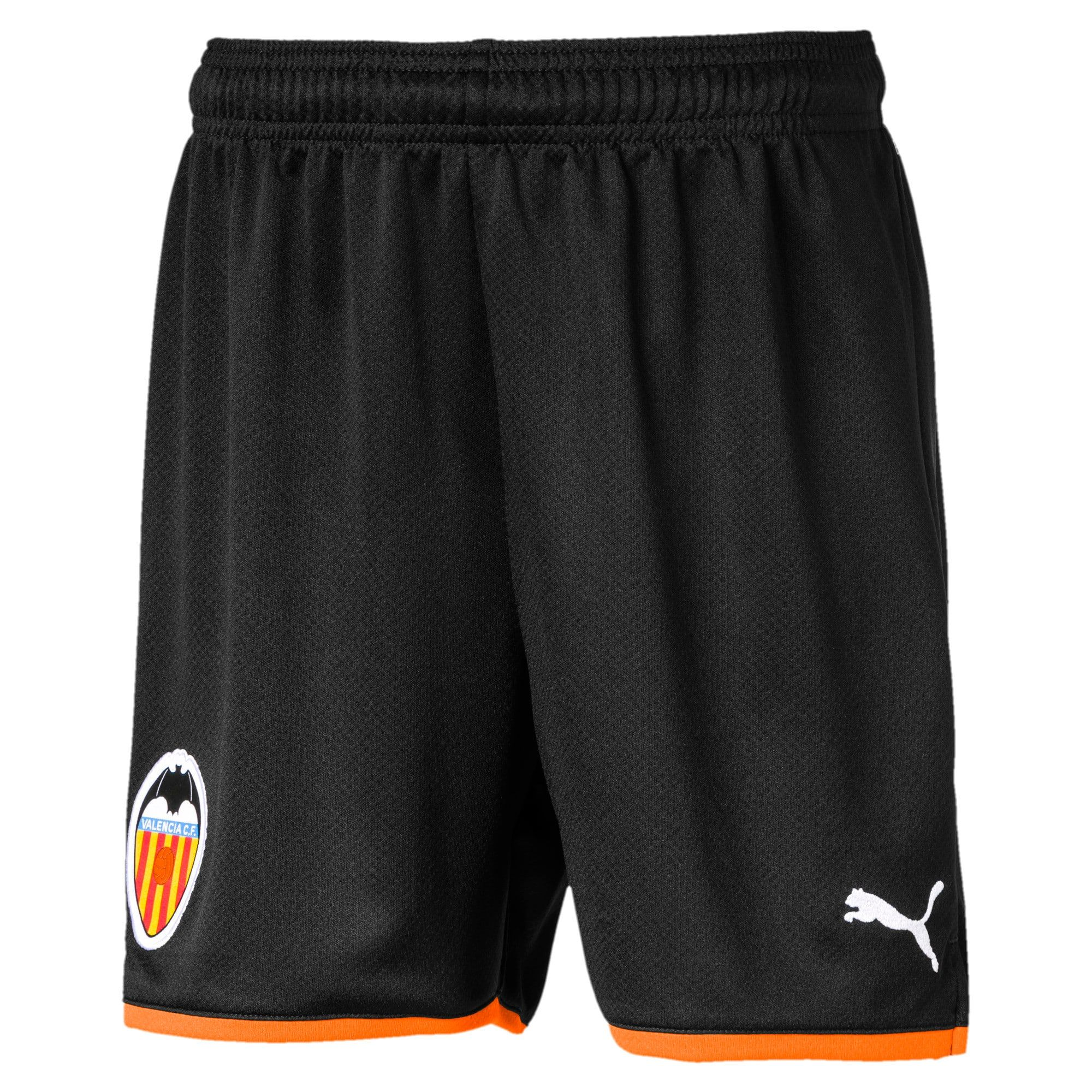 Photo of PUMA Valencia Cf Kids' Replica Shorts in Black/Vibrant Orange size 11-12 Youth