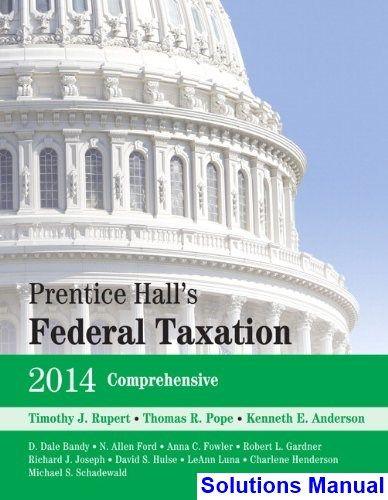 prentice halls federal taxation 2014 comprehensive 27th edition rh pinterest com Progressive Taxation Federal Estate Tax 2014