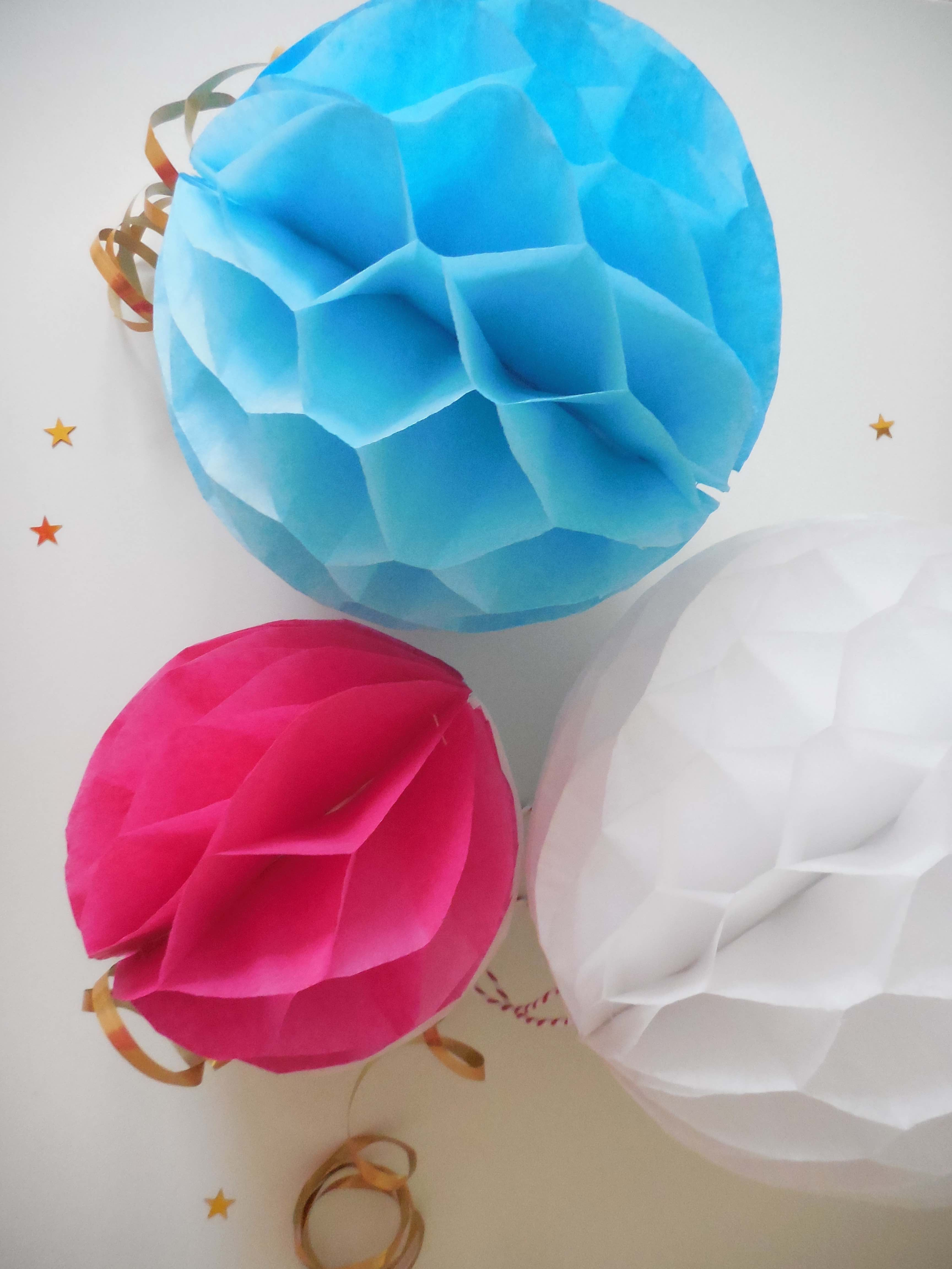 Honeycomb Paper Decoration Craft Make  Step By Step Instructions