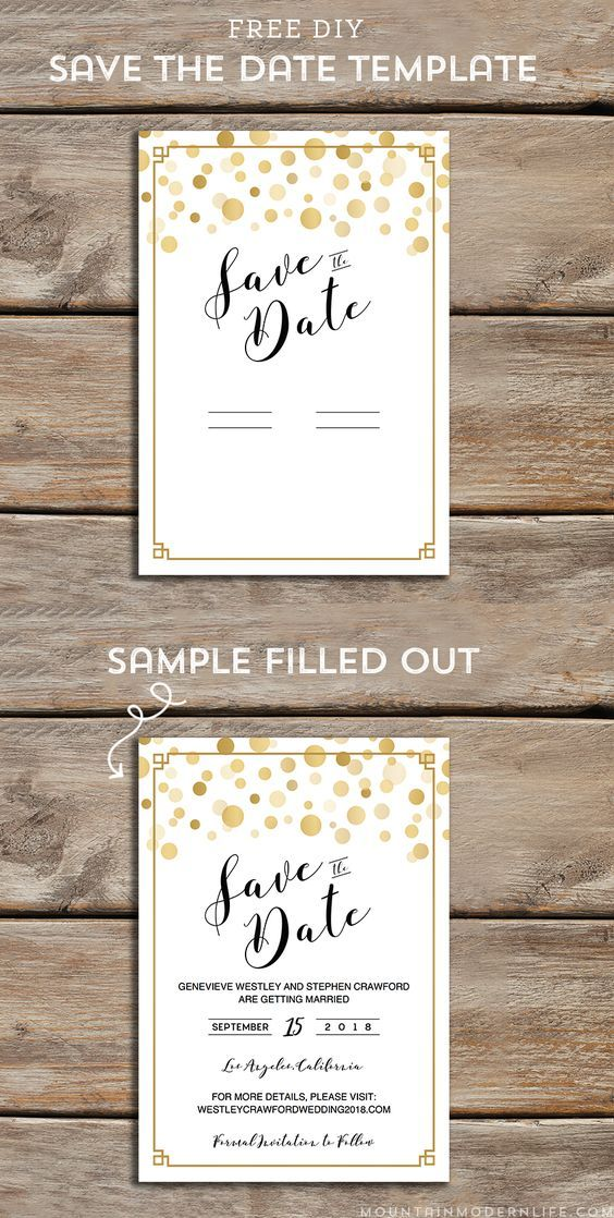 Free Modern Diy Save The Date Template Save The Date Templates Diy Save The Dates Wedding Save The Dates