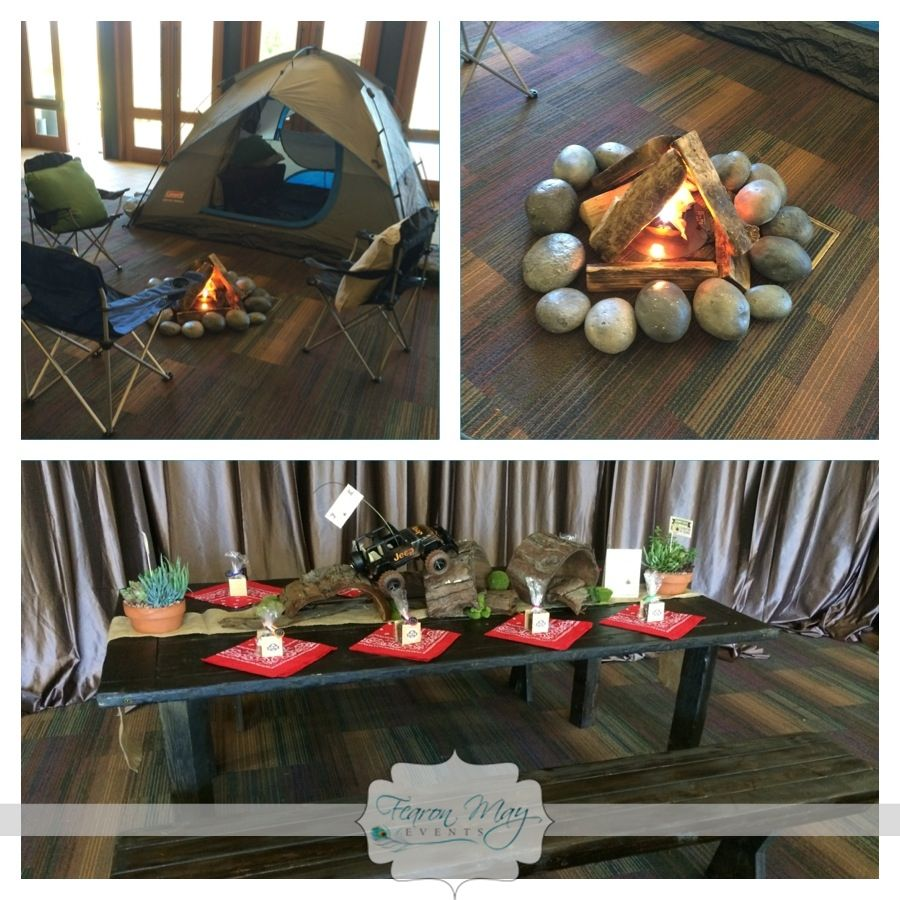 Camping Themed Party, Camping birthday party, kids themed