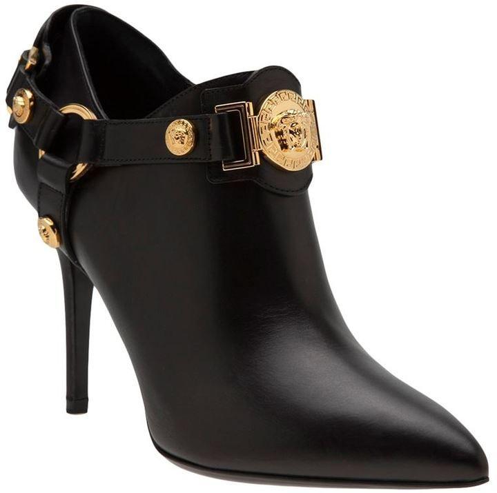 Versace buckled bootie