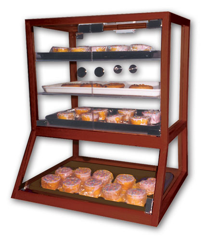 Counter Top Pastry Case With Angled Base Bakery Display Case