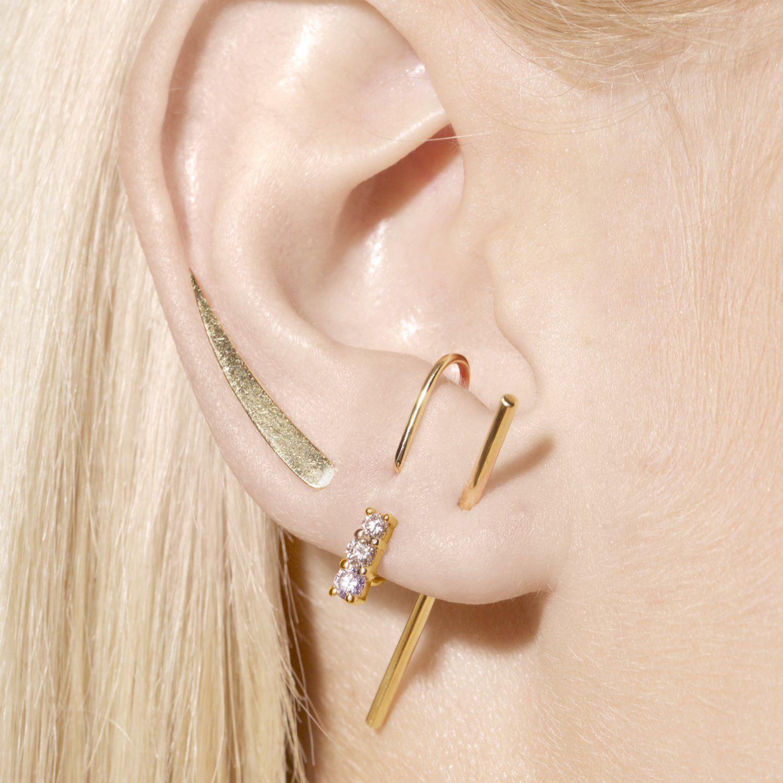 Dual Diamond Suspender Earring Smith Mara Stick Earrings