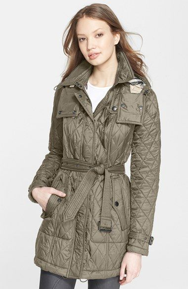 Burberry Brit Finsbridge Belted Quilted Jacket Quilted Jacket Long Coat Jacket Long Quilted Coat